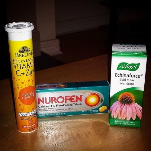 My flu needs ALOT of help... #coldandfluseason #notfeelingwell #hopethesedothetrick #vitaminC #echinacea #nurofencoldandflu #helpgetmebackontrack #fighttheflu #notagoodpatient #fighttheflu
