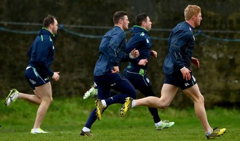 Eoin McKeon, Robbie Henshaw, John Cooney and Darragh Leader