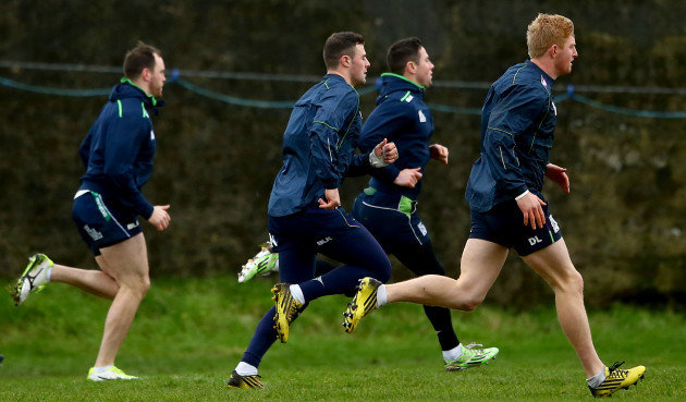 Eoin McKeon, Robbie Henshaw, John Cooney and Darragh Leader
