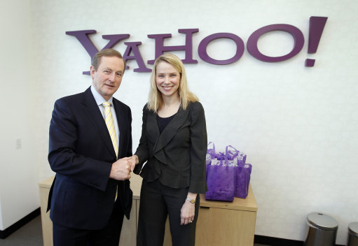 Ireland PM visits Yahoo and McAfee Headquarters