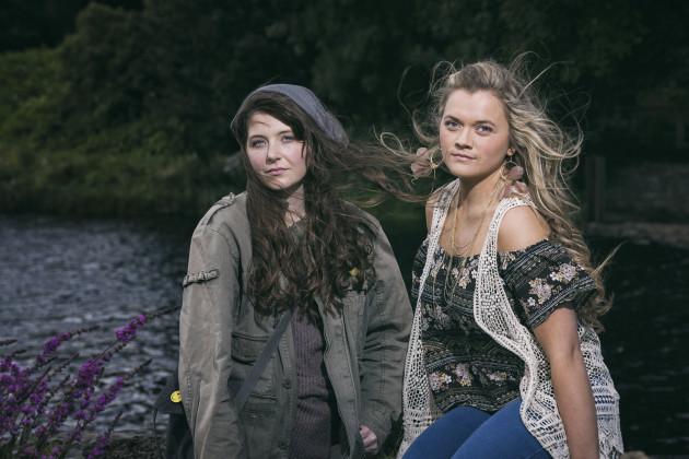 From L-R- Róisín Ní Chéileachair as MONA and Fionnuala Gygax as BEA