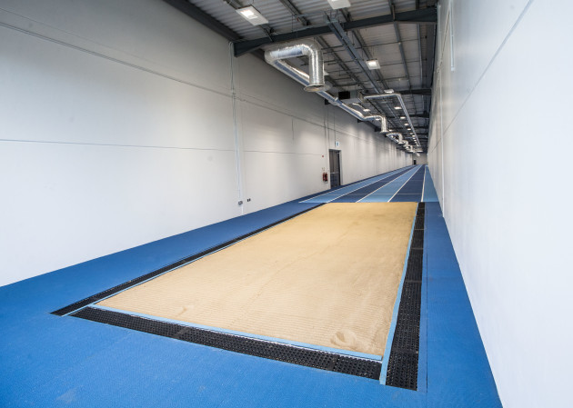 A view of the long jump at the High Performance Training Centre