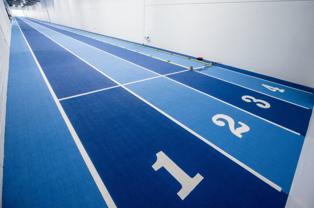 A view of the indoor running track at the High Performance Training Centre