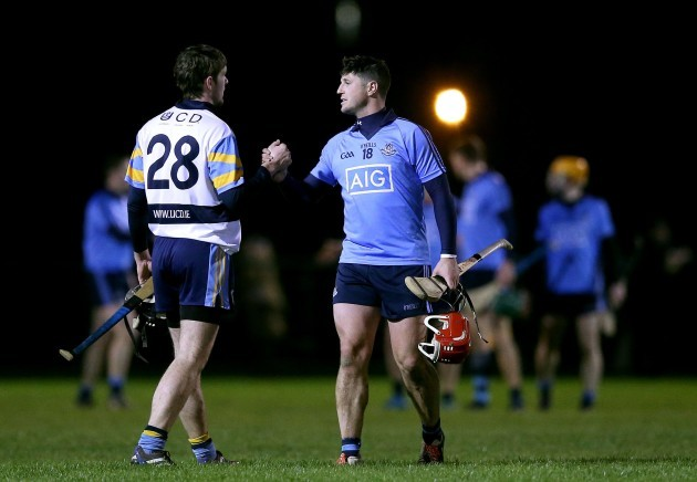 David Treacy and Sean Moran after the game