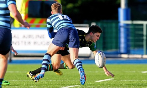 Finn Mulcahy is tackled