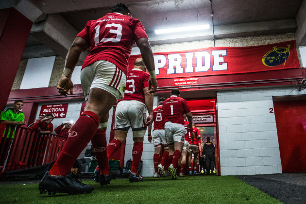 Francis Saili takes to the field with his team after half time