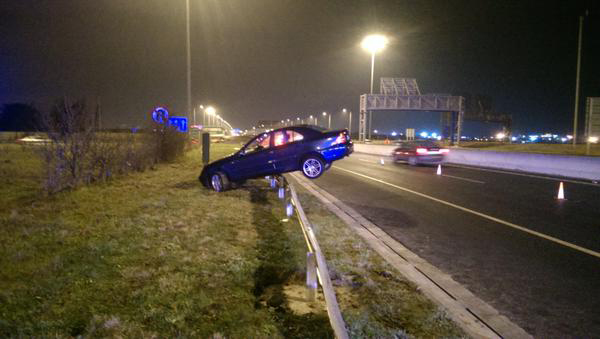 12/2/2014. Car Crash Scene M50. Garda Traffic Twee