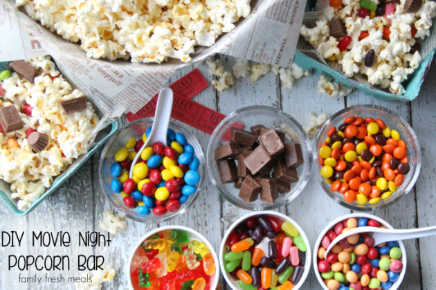 DIY-Movie-Night-Popcorn-Bar-FamilyFreshMeals.com-Fun-for-the-whole-family