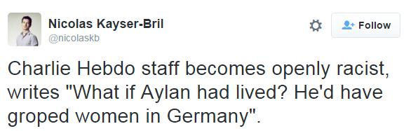 Too far? Charlie Hebdo asks if drowned toddler Aylan Kurdi