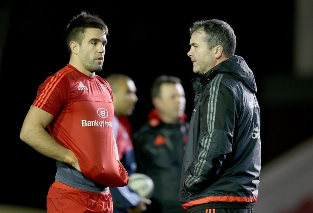 Anthony Foley with Conor Murray