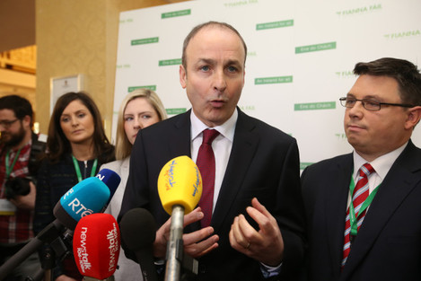 16/1/2016 Party Leader Micheal Martin speaking to