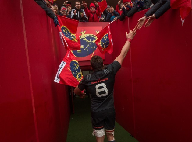 CJ Stander makes his way down the tunnel