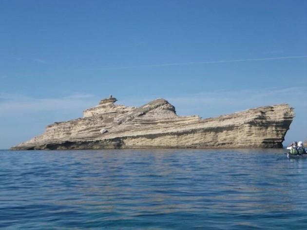 A rock that looks like a ship