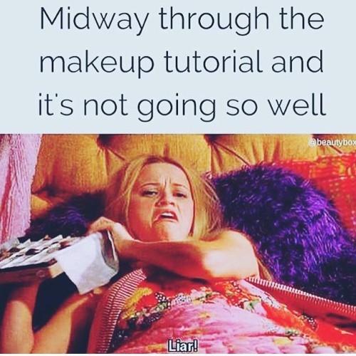 Hahaha!!!#contouringisnoteasy#makeupfail