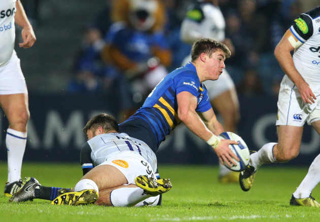 Garry Ringrose is tackled by Matt Banahan