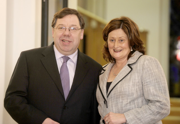18/01/2011. An Taoiseach Brian Cowen and his wife