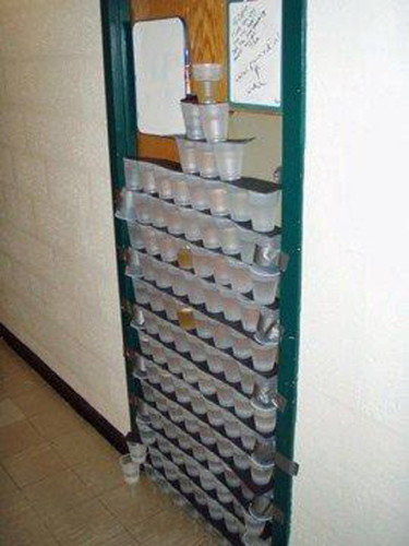 dorm-room-door-uni-cups-tower-taped-prank