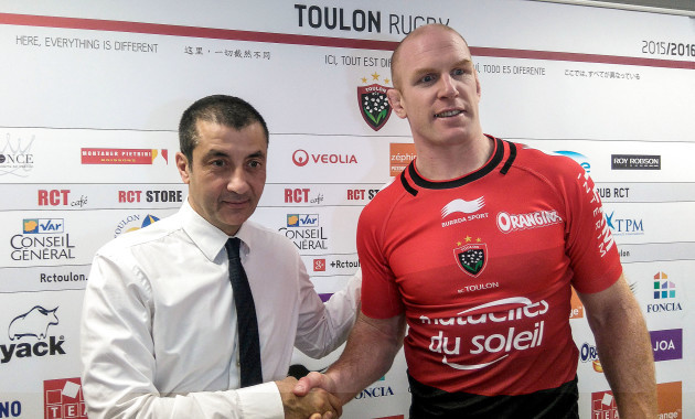 Mourad Boudjellal with new signing Paul OÕConnell