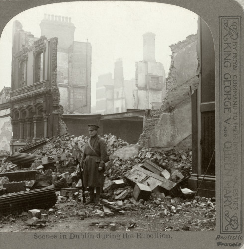 01_PressImage l Stereoscopic view of Dublin ruins, 1916
