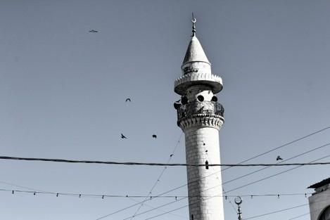 9.12.15, Mosque, Huwwara Village, West Bank. A.Dunne