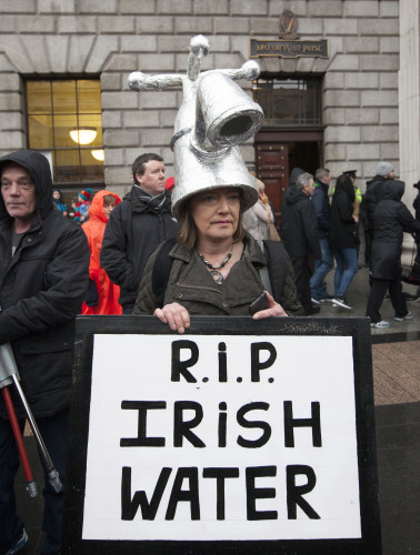 23/1/2016. Right To Water Protest Dublin. A large