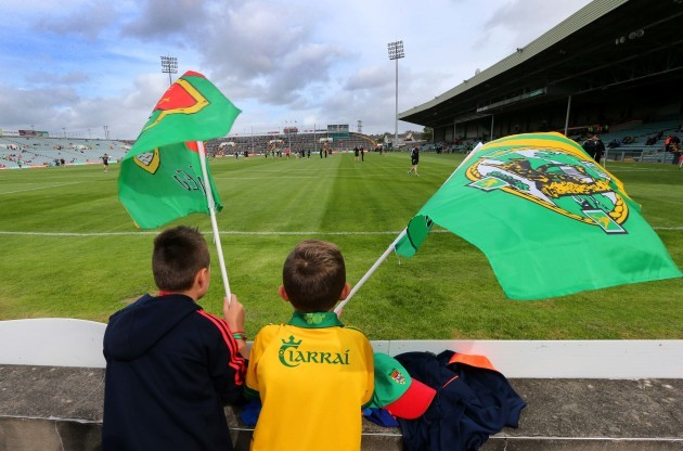 Kerry and Mayo supporters arrive early