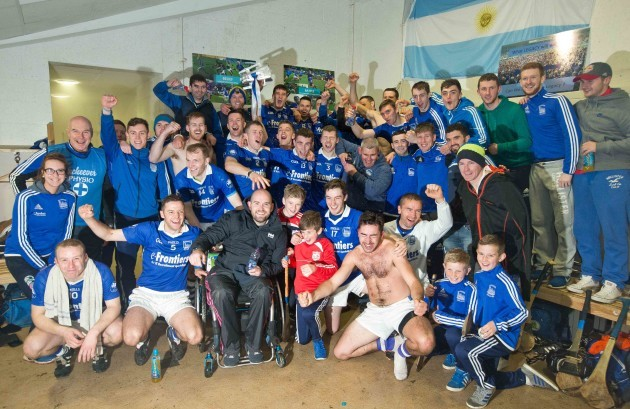 Thurles Sarsfields' players celebrate winning