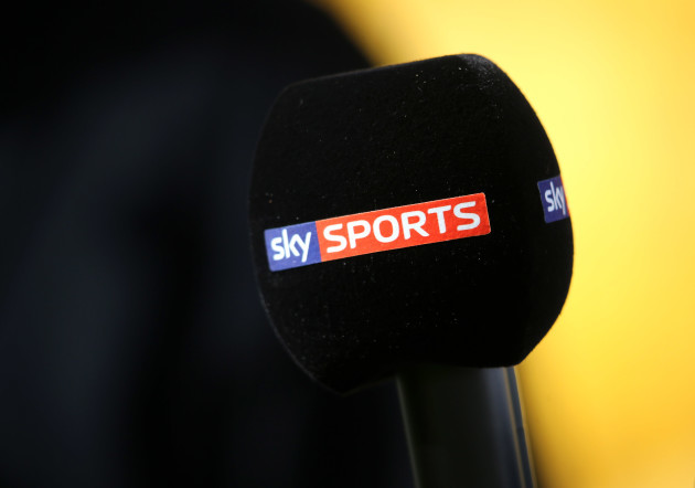 General view of a Sky Sports microphone