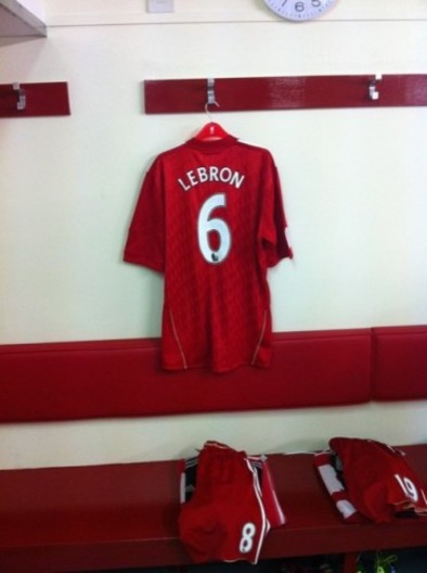 huge selection of 4632a 45419 Gallery: Behind the scenes of LeBron James' Anfield ...