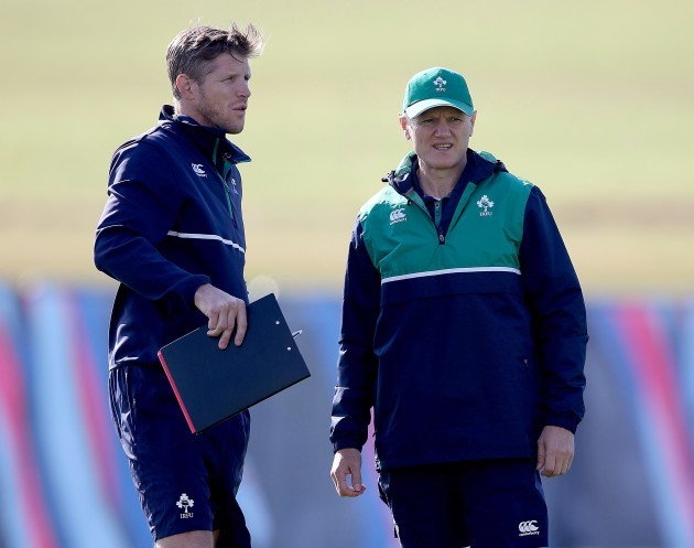 Simon Easterby and Joe Schmidt