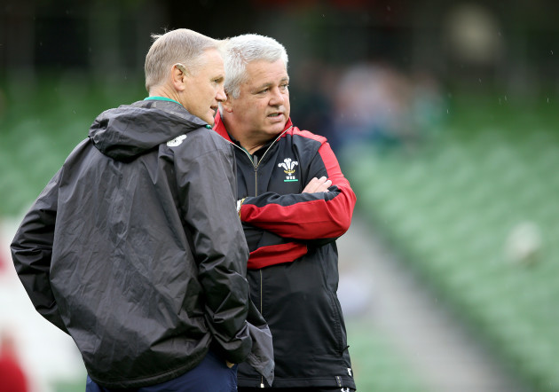 Joe Schmidt with Warren Gatland