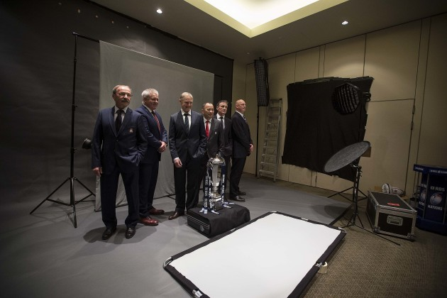 Jacques Brunel, Warren Gatland, Joe Schmidt, Eddie Jones, Guy Noves and Vern Cotter