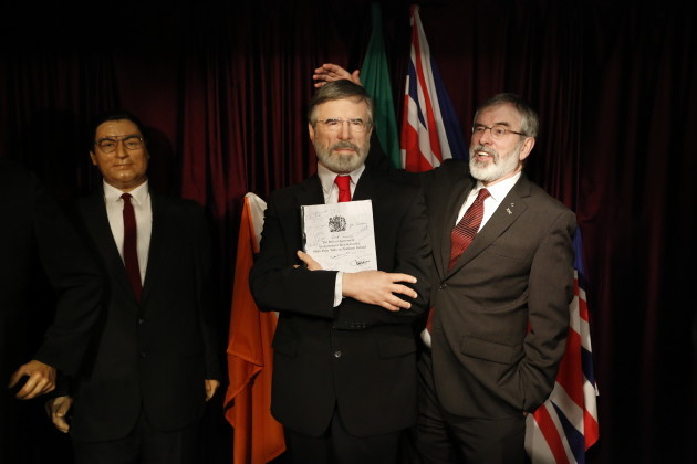 27/01/2016 Gerry Adams unveils his Wax Figure. Pic