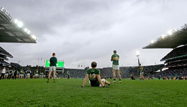 Johnny Buckley, Donnchadh Walsh and Anthony Maher dejected