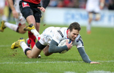 Jared Payne scores a try