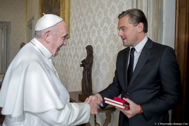 APTOPIX Vatican Pope Di Caprio