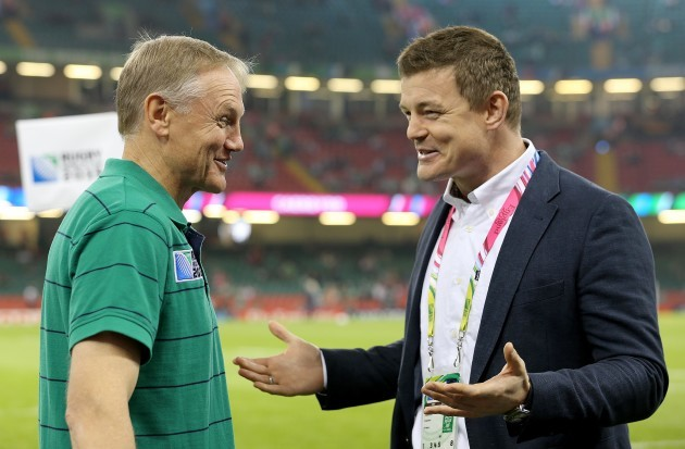 Joe Schmidt with Brian O'Driscoll