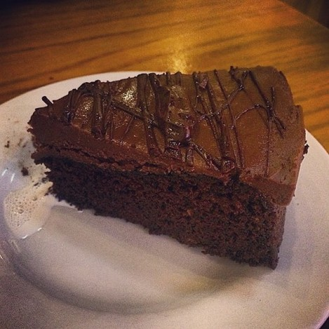 Chocolate and Aubergine cake!