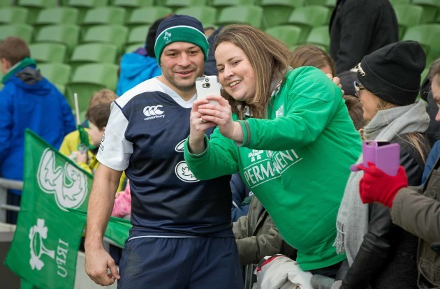 Rory Best with fans