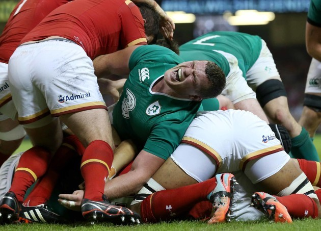 IrelandÕs Jack McGrath under pressure