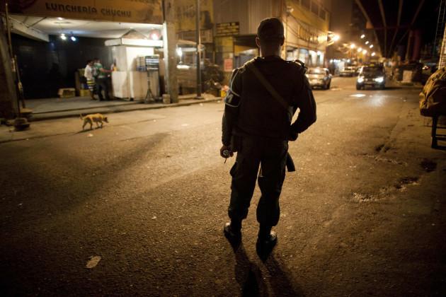 Venezuela Troop In The Street
