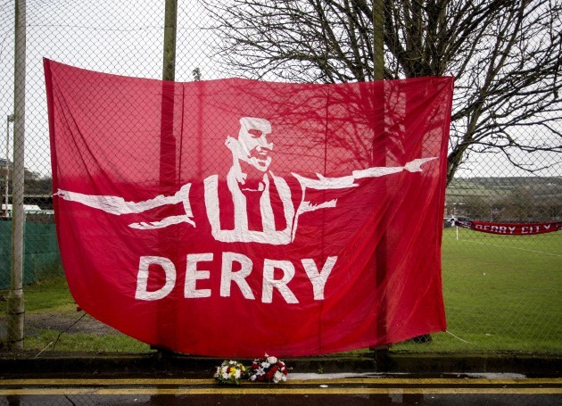 A tribute to former Derry City player Mark Farren