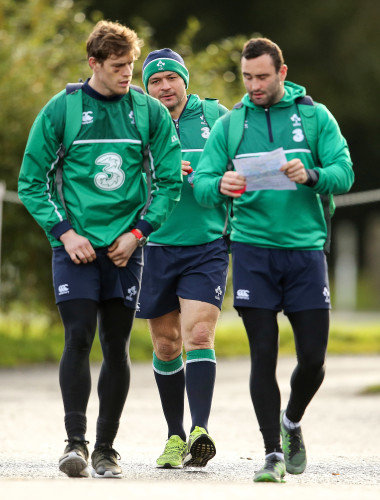 Andrew Trimble, Rory Best and Dave Kearney