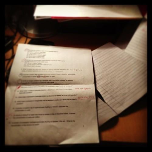 No way am I doing Chemistry next year #tyhomework