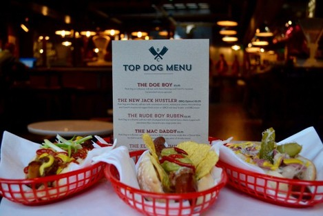 TOP DOG HOT DOGS AT B & C