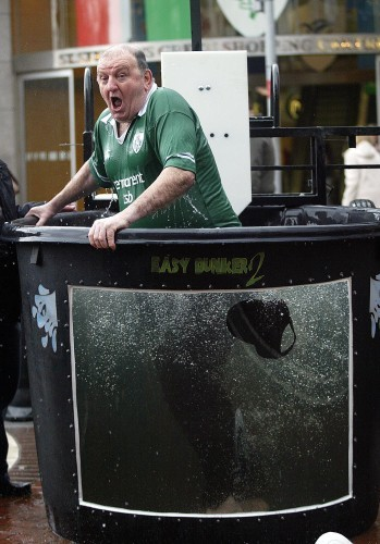 George Hook gets dunked 24/2/2005