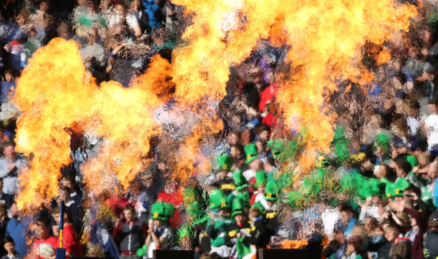 Ireland's fans with flames in Murrayfield