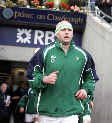 John Hayes runs out into Croke Park 11/2/2007