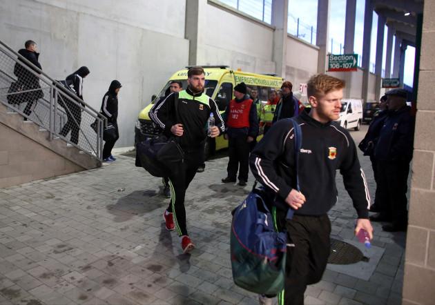 Aidan O'Shea arrives for the game