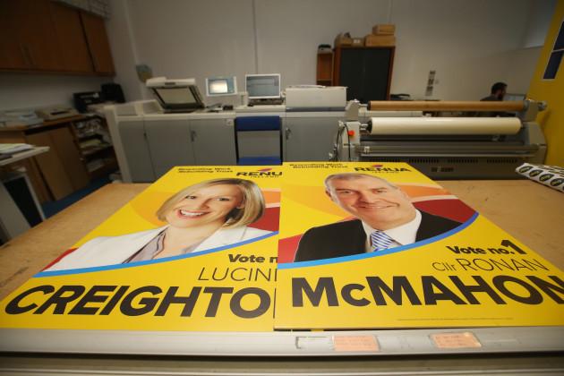 28/10/2015. Renua Ireland Election Campaigns Posters